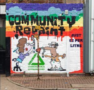 Exterior of Community RePaint Hull
