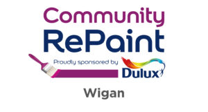 Community RePaint. Proudly sponsored by Dulux. Wigan.