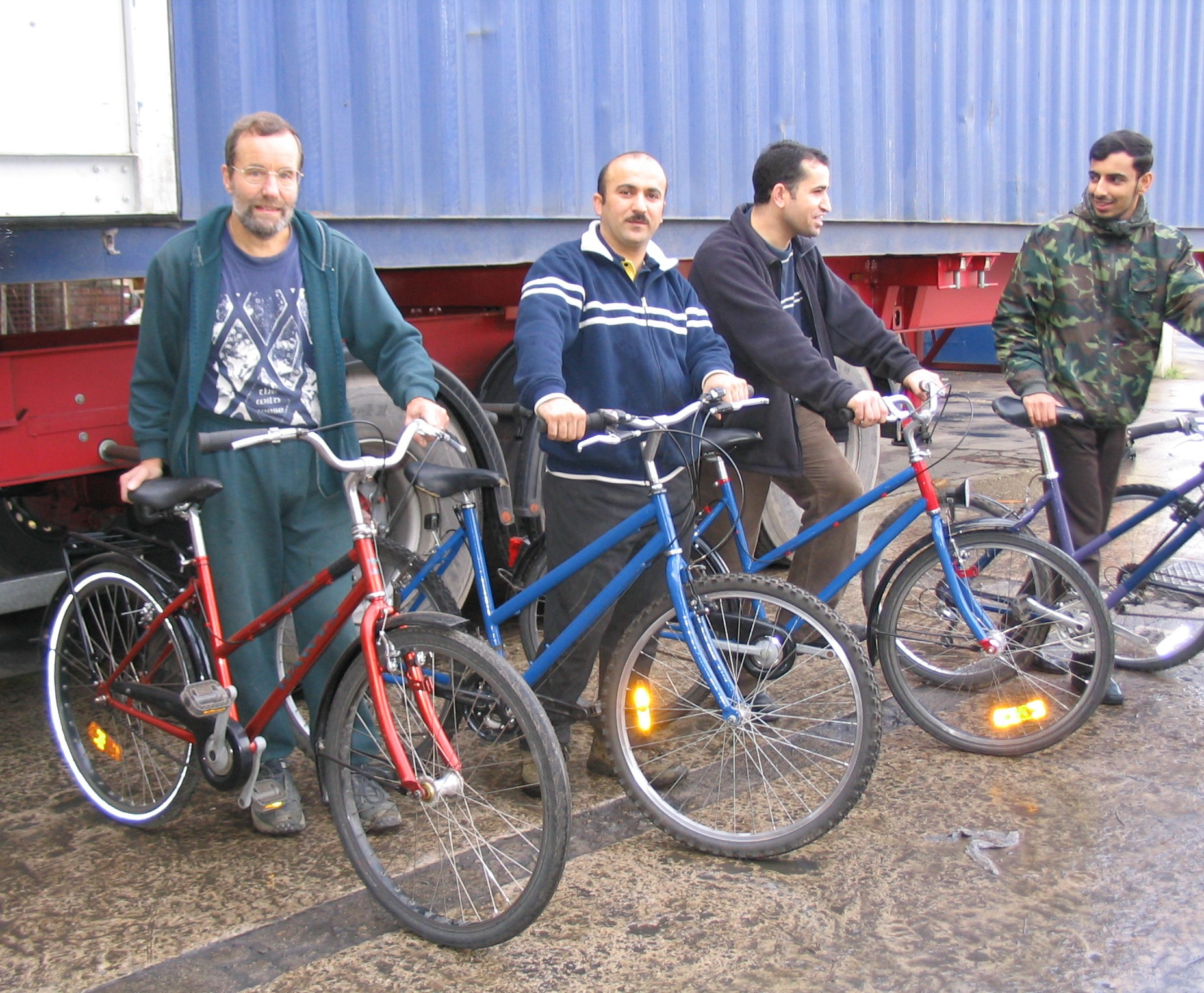 Refurbished bikes ready for donation to Iraq