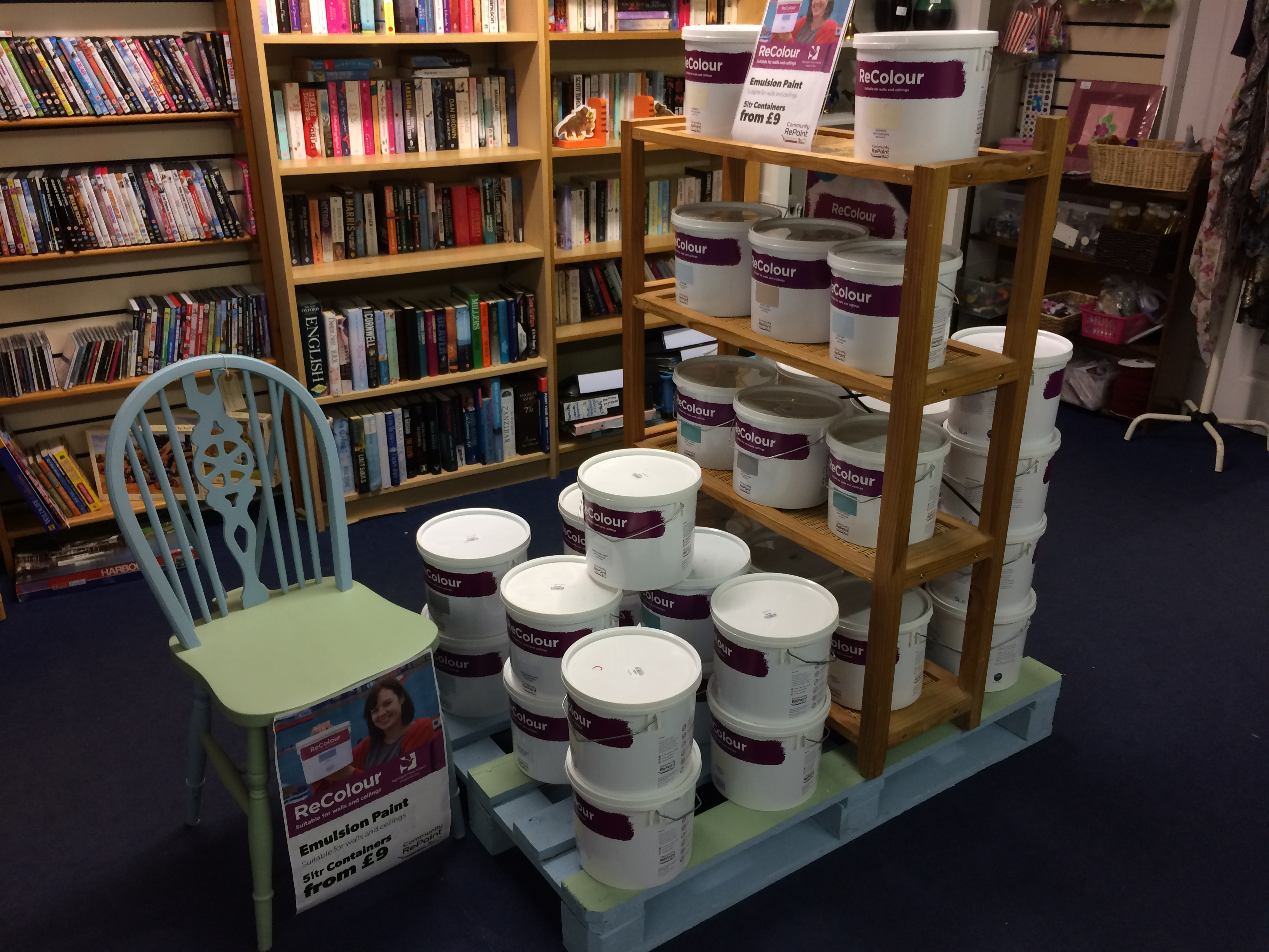 ReColour paint display at Nightingale House Hospice in Wrexham.