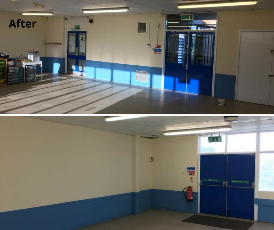 After photos of community centre redecoration