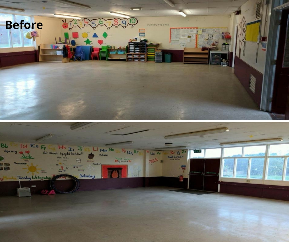 Before photos of community centre redecoration