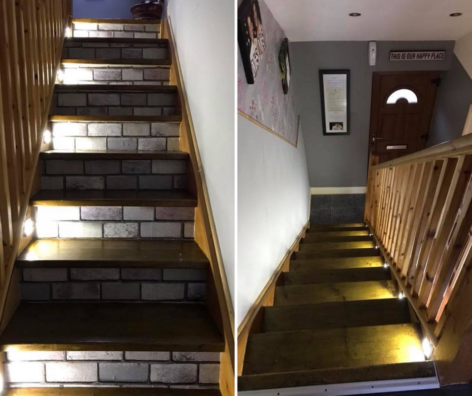 Redecorated staircase