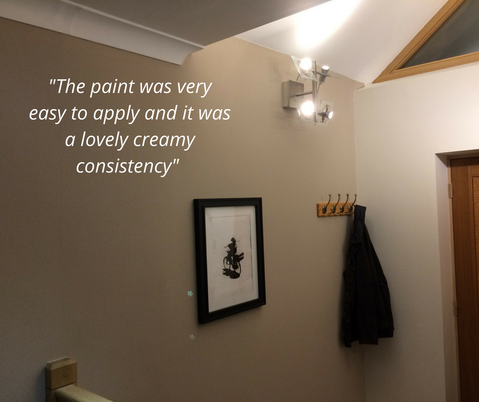 Redecorated hallway using ReColour Chilled Coffee emulsion.