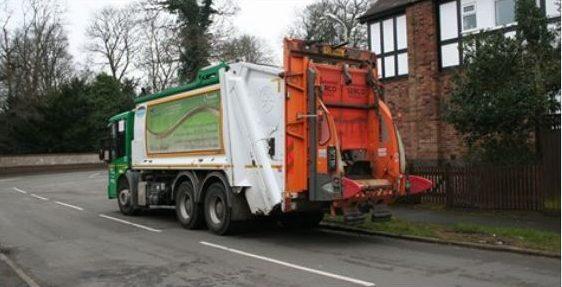 Waste truck.