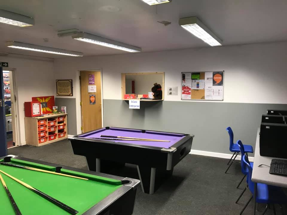 Pant & Dowlais Boys and Girls Club redecorated with our cheap and eco ReColour emulsion in Brilliant White and Gorgeous Grey.