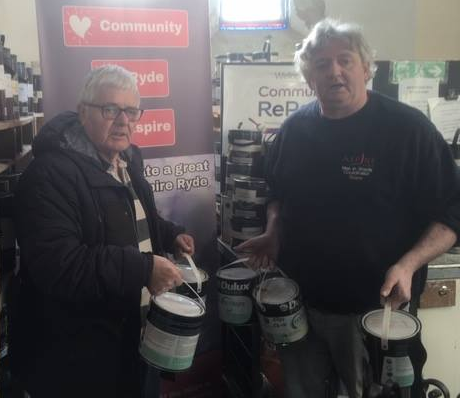 Community RePaint Ise of Wight recently provided paint to the local community was to the Sandown Community Association, who are renovating an old, run-down shop into a Community Art Gallery.