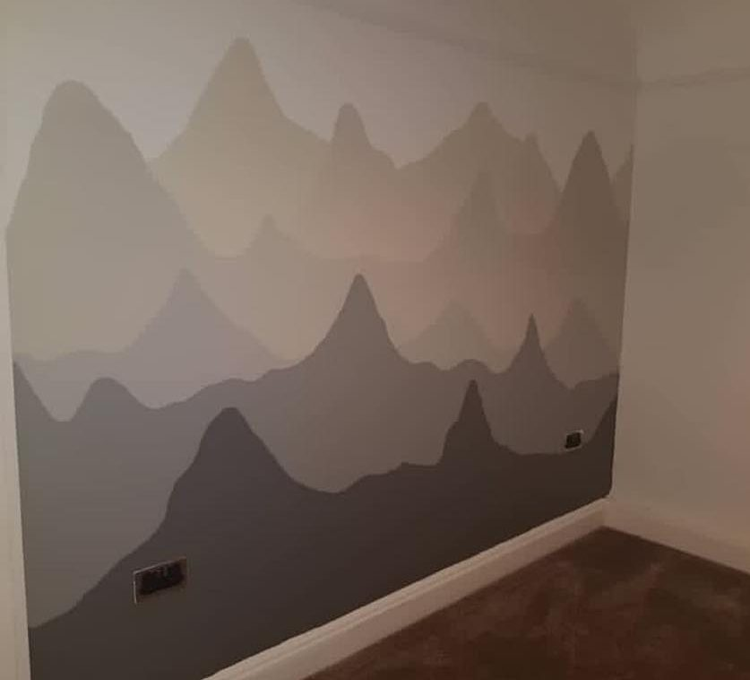 redecorating paint project using cheap and low cost paint from a Community RePaint scheme.