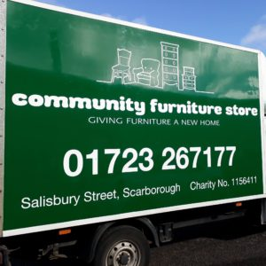 Community Furniture Store delivery van.