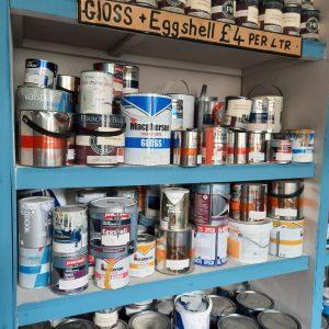 Paint Display at Community RePaint Kendal