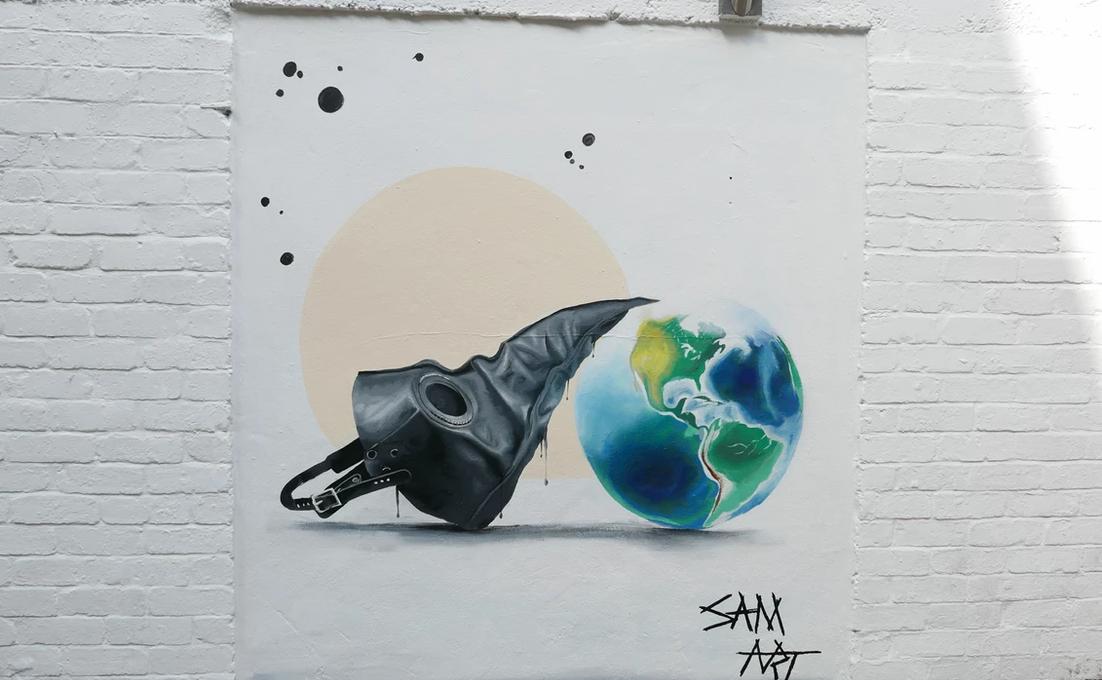 Cheltenham Paint Festival Street Art, Earth, community mural