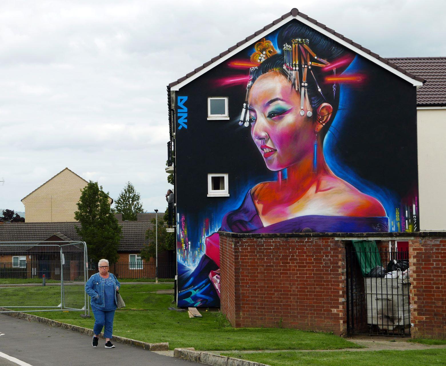 Cheltenham Paint Festival Street Art, community mural