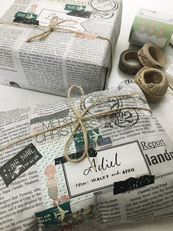 Newspaper wrapping paper alternative