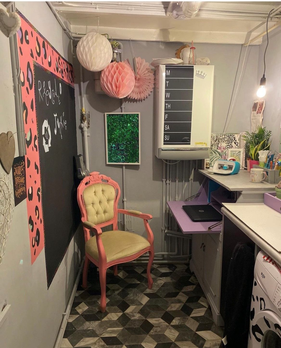 Home office redecoration using ReColour chalk paint
