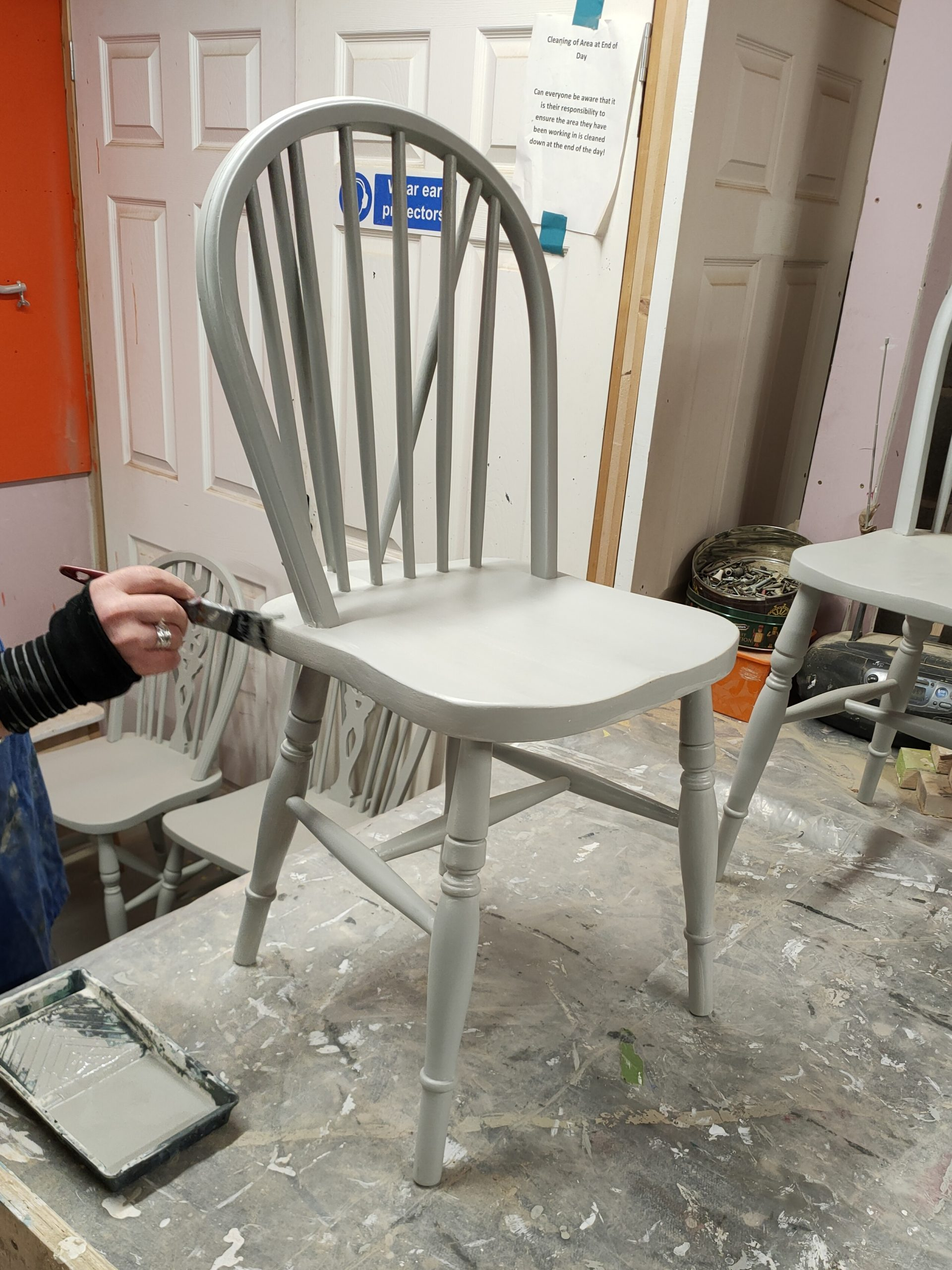 Furniture upcycling with affordable, reusable paint at Community RePaint Loughborough