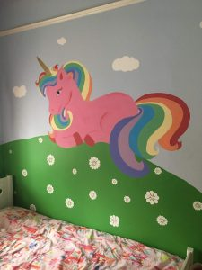 Childrens bedroom featuring a unicorn in Bradford