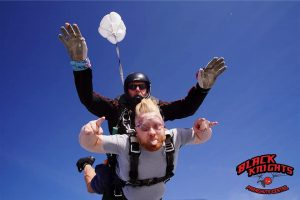 Bob from Community RePaint Liverpool sky diving